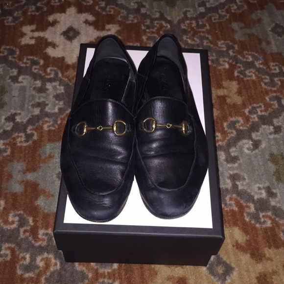 Gucci Shoes - Black Gucci Leather Loafers